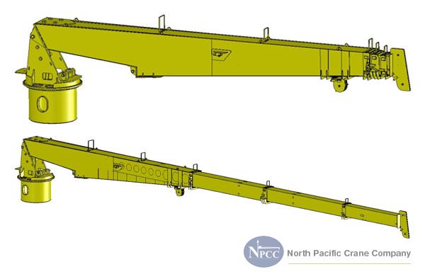 Telescopic Crane Marine : Cad modeling north pacific crane company