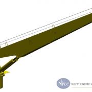 Marine Crane Telescopic Boom Dock Crane