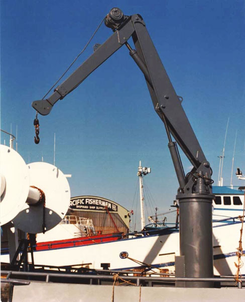 Telescopic Deck Cranes : Marine crane knuckle boom deck ship