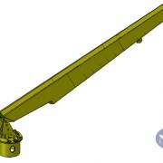 Marine Crane Telescopic Boom Offshore Crane for a sea state 4